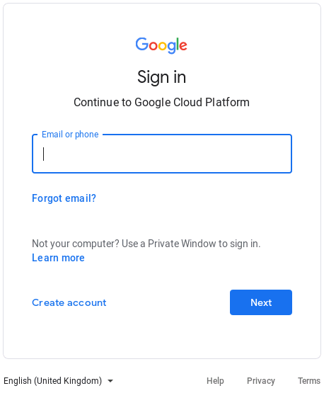 Sign in to Google services