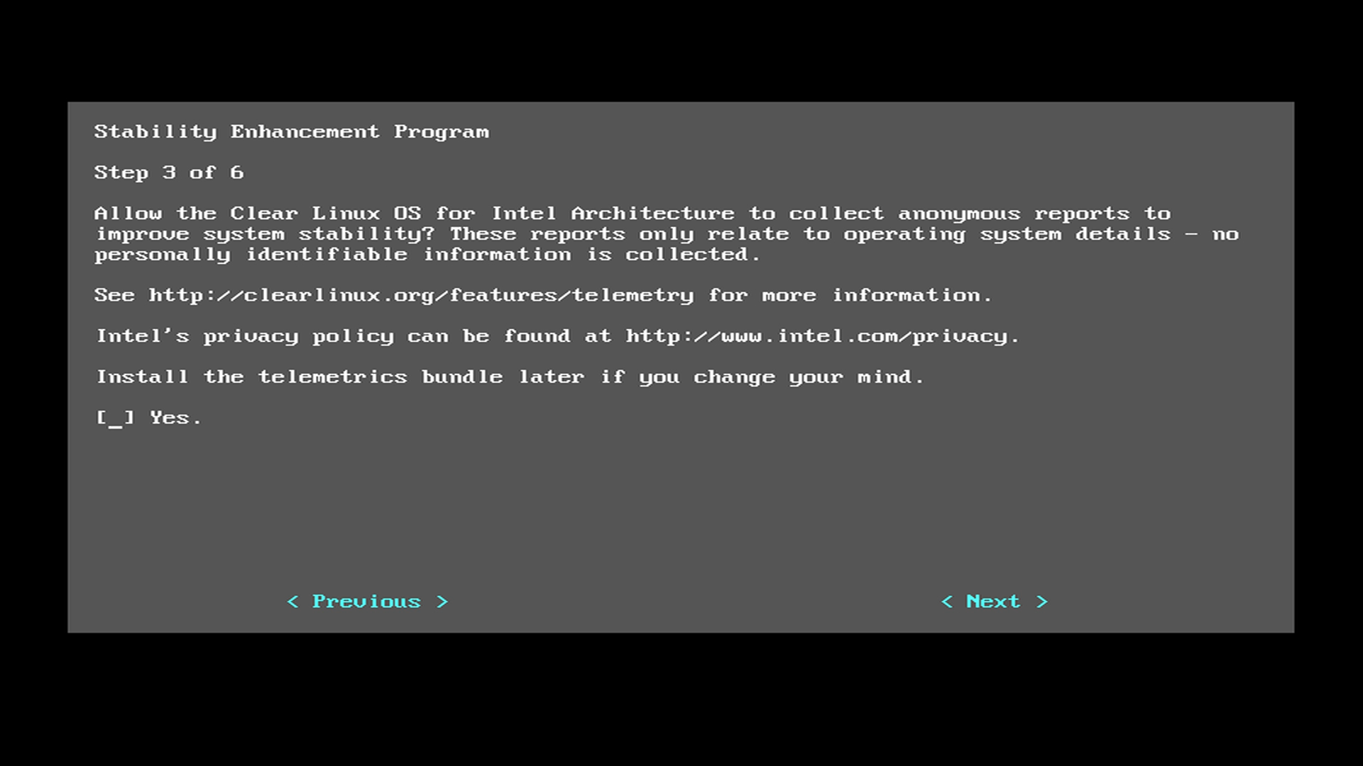 Install Clear Linux* OS on bare metal (automatic) | Clear