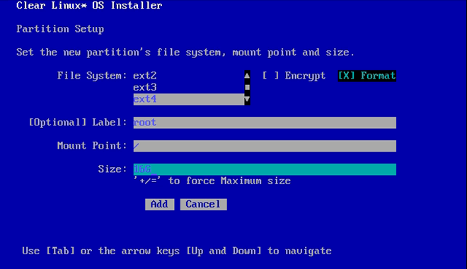 Install Clear Linux* OS on bare metal with live server | Clear Linux