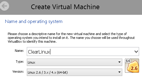 Create a new image in VirtualBox