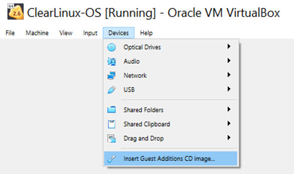 Install a Clear Linux* OS VM in VirtualBox* | Clear Linux* Project