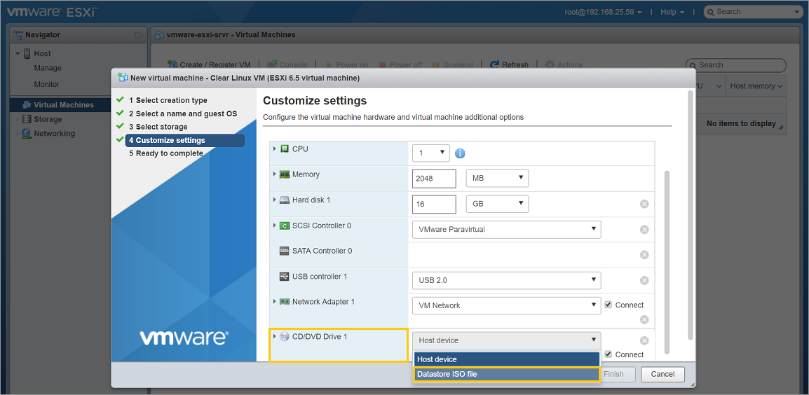 Install Clear Linux as a VMware* ESXi guest OS | Clear Linux* Project